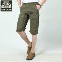 AFS JEEP Brand Short Summer Casual Shorts Men Beach Shorts Multi-pockets Quick Drying Overalls Plus Size XXXL Short Homme
