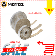 ZS MOTOS 5M/10M/15M Motorcycle Heat Exhaust Pipe Header Wrap Turbo Resistant Downpipe Fireproof Car Motor Tape Replacement