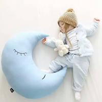 40CM Cartoon Moon Super Soft Baby Slepping Pillow Baby Bed Cushion Decorate House Decor Baby Sleeping
