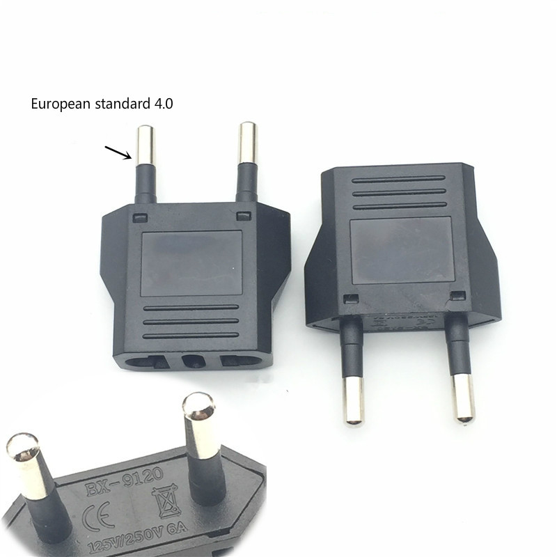 US To EU Plug Mini Adapter American To Euro Europe European Travel Power Adapter AC Converter Electrical Outlet Socket