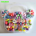 HAPPYXUAN DIY Hand Beaded Children's Creative Puzzle Fun Child Female Wear Beads Practice Toy Material