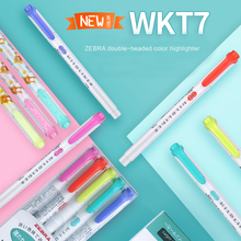 TUNACOCO Zebra Wkt7 Double Head Fluorescent Pen Highlighters Marker Pen Japanese Stationery School Office Supplies bb1710169