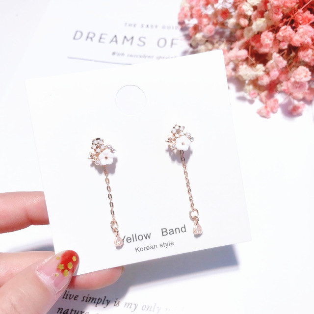 Trendy Fashion Cubic Zircon Micro Paved Drop Earrings