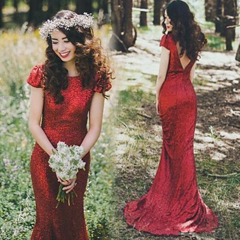 Long red sequin dress cheap