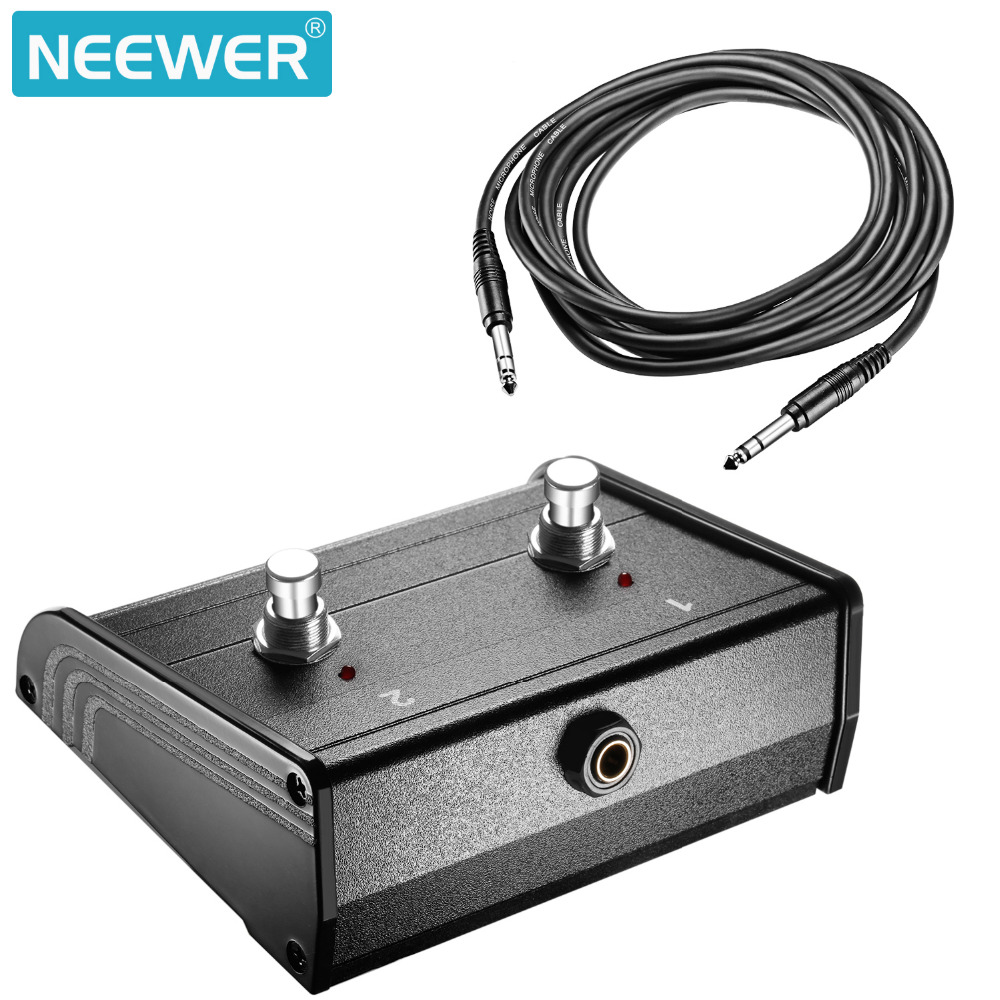 Neewer Dual Channel 2 Button Footswitch Controller Switcher With 1 4 Jack Guitar Pedal Wiring Inch Cable For Bass And Keyboard Amplifiers In Microphones From Consumer
