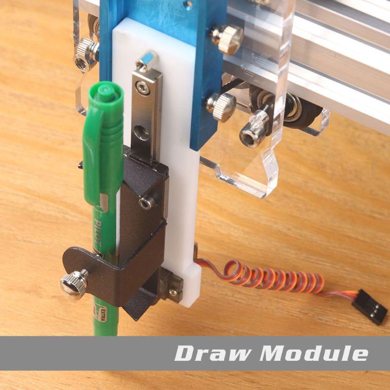 Ziehen Modul Kit Set Für Eleksmaker EleksLaser Gravur Maschine Komponenten Zeichnung Handschrift Simulation Anpassung 120x32mm
