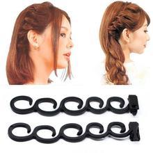 2pcs/Pack French Hair braider hair style tool hair braiding roller magic hair twist styling Accessories RP4