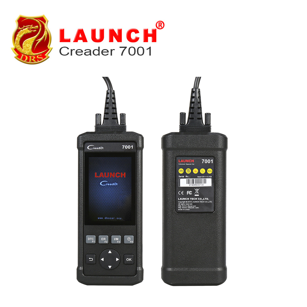 Original Launch DIY Code Reader CReader 7001 Full OBD2 Scanner/Scan Tool with Oil Reset Service diagnosis ENG/AT/ABS/SRS CR7001 car obd2 obdii oil inspection service reset tool