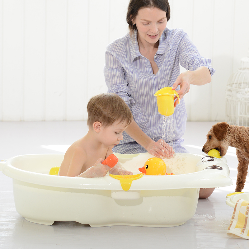 Plastic Baby Bath Tub Cartoon Baby Bathtub Children\'s Bath Bucket ...
