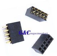 5PCS 2X5 Pin 10P 2.54mm Double Row Female Straight Header Pin StripHS03D019