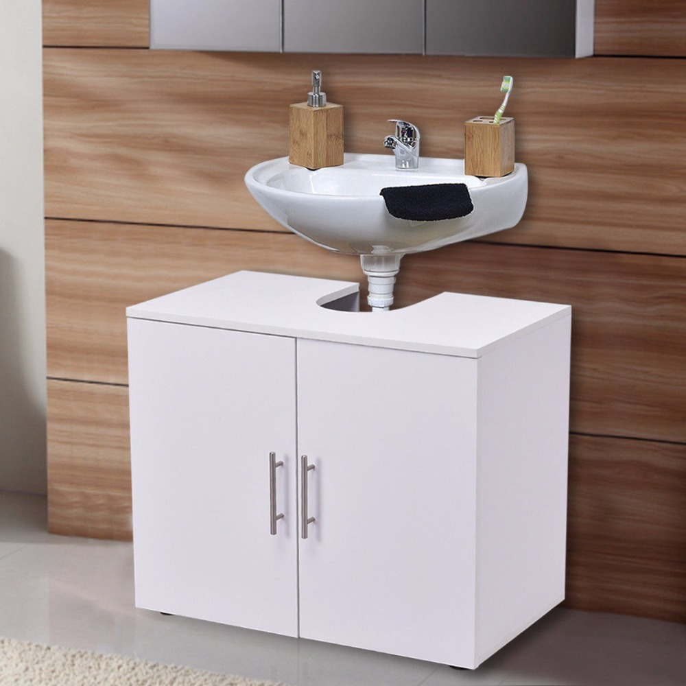 Giantex Non Pedestal Under Sink Bathroom Storage Vanity Cabinet Modern Wood Space Saver