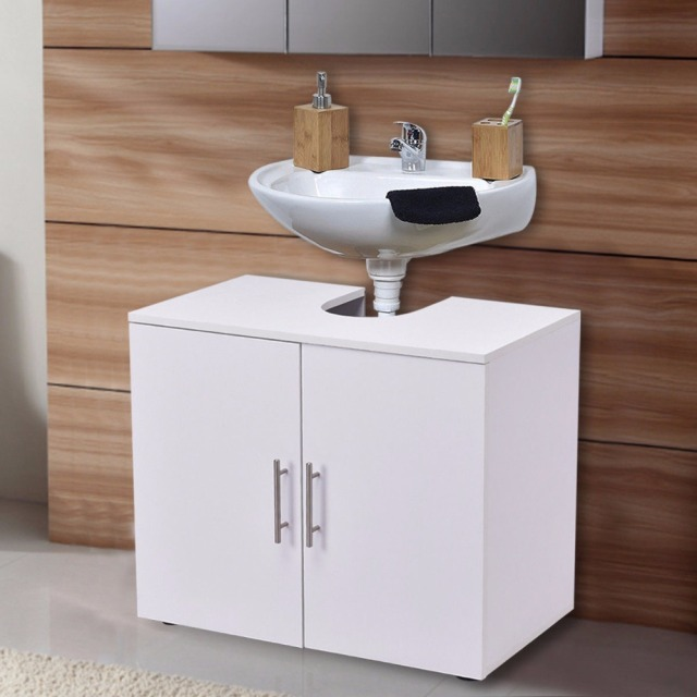 Giantex Non Pedestal Under Sink Bathroom Storage Vanity Cabinet Modern Wood E Saver Organizer New