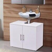 Giantex Non Pedestal Under Sink Bathroom Storage Vanity Cabinet Modern Wood Space Saver Organizer New Bathroom Cabinets HW56375