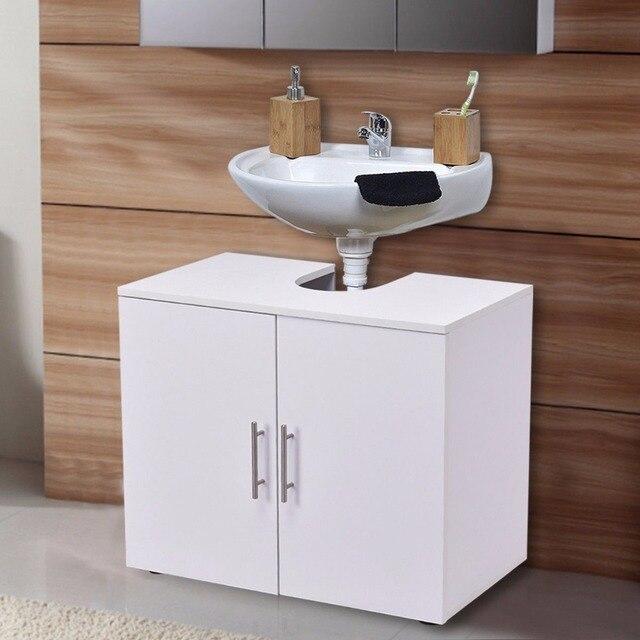 Giantex Non piédestal sous évier salle de bain rangement vanité ...
