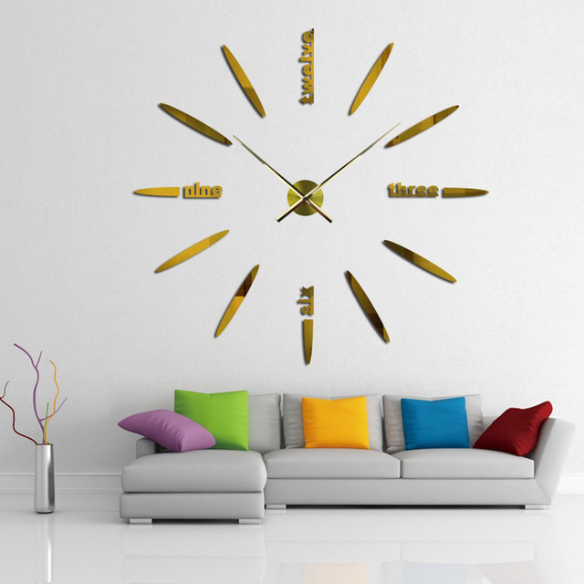 28/35CM Large Clock Hands 3D Wall Clock DIY Modern Home Decoration on