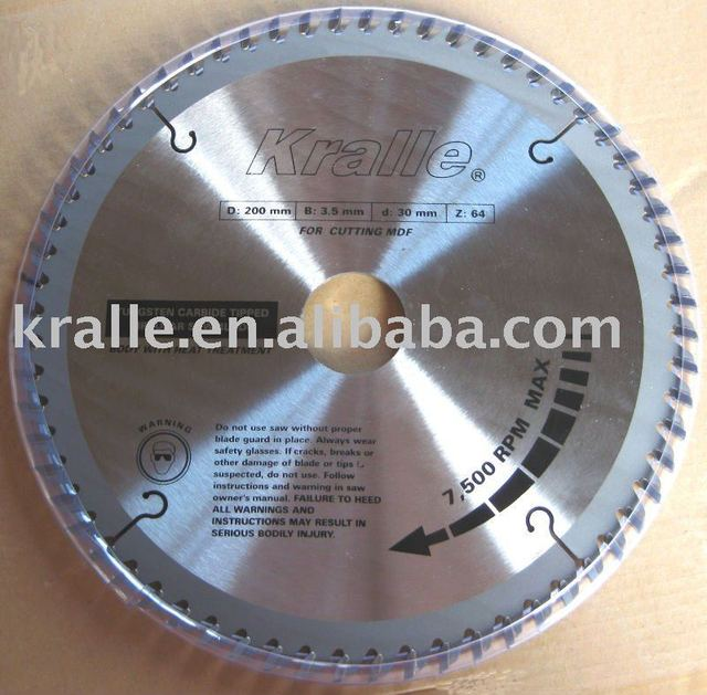 Kralle T.C.T Saw Blade For Cutting Plywood
