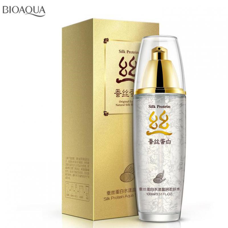 BIOAQUA Natural Silk Protein Essence Toner Soothe Moist Oil Control Skin Care Moisturizing Hydration Repair Damaged Skin Lotion