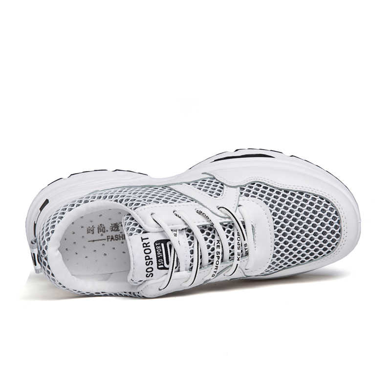 sports shoes fb7e5 074be ... Weweya EAF Sneakers Women Ins Trend Running Shoes Woman Height  Increasing Sport Shoes Air Mesh Fitness ...