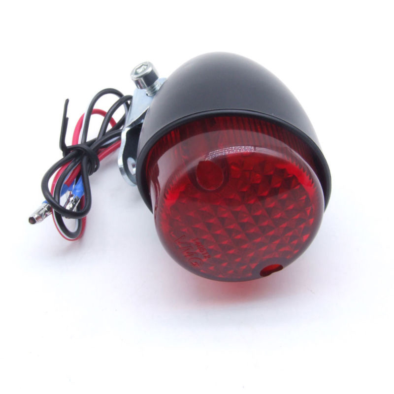 1pc 12V Aluminum Alloy Tail Light Motorcycle Brake Stop Running Rear Tail Light For Harley Cafe Racer Bobber
