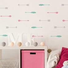 Beauty Arrows Patern Nursery Bedroom Home Art Cute Decor Mural Set Pattern 50pcs/lot Wall Decal Removable Waterproof Decal Y-917 50pcs lot 2sd1221 y d1221 to251