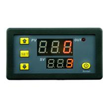 цена на DC 12V Time Relay Module Digital LED Double Relay Display Timer Cycling 0-999s 0-999m 0-999h Adjustable Power Supplies Mayitr