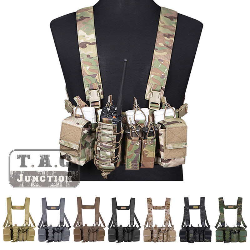 Emerson Tactical D3CR Disruptive Environments Chest Rig EmersonGear Combat Airsoft Hunting Combat Molle Vest W/ Mag Pouches
