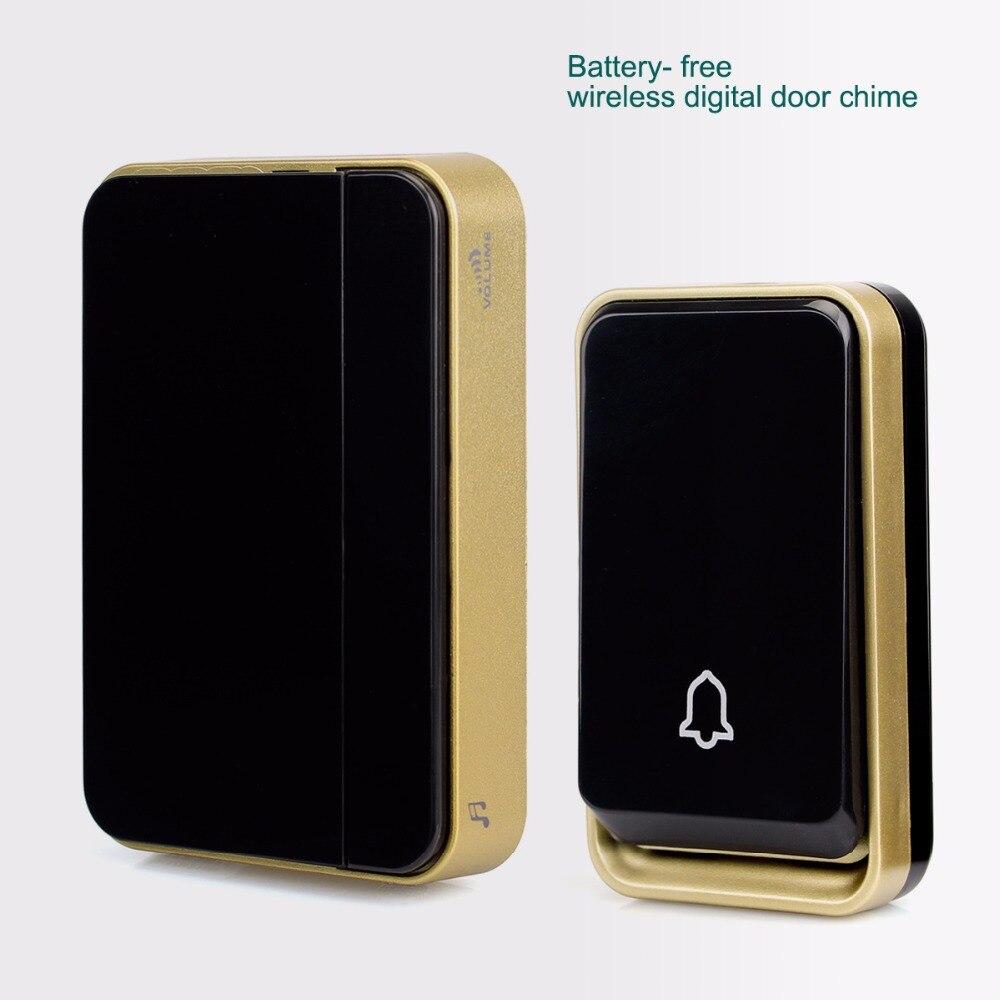 Battery Free Wireless Doorbell Digital Door Chime 51 Melody Ac/dc Wireless Door Bell F1759A