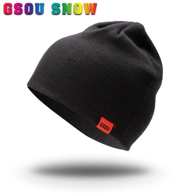 New Autumn Winter Warmth Beanie Hat Plus Thicken Men Snowboard Knitted Cap  Hip Hop Bonnet Beanies Ski Skating Hats For Men Women 7de3a314a00