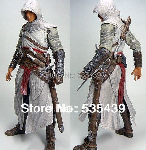 NEW 1pcs 7 inch Hot Promotion Assassins creed Assassin Creed I Altair Player PVC Action Figures Toy neca assassins creed 3 connor the hunter figurine classic game pvc action figures juguetes doll kids hot toys for children men
