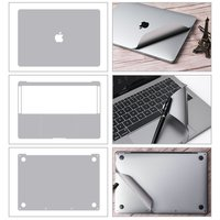 Premium Full Body Sticker for 2018 2019 new Macbook Air 13 inch with Touch ID 4 in 1 Vinyl Pure Color Laptop Sticker Protector