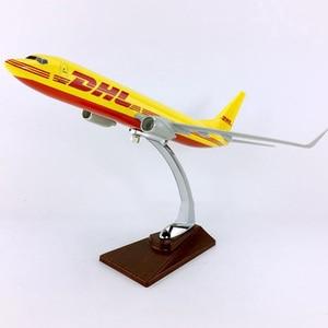 Image 4 - 30 Cm 1: 230 Quy Mô Boeing B737 800 Mô Hình DHL Chuyển Phát Nhanh Hãng Hàng Không Với Chân Đế Hợp Kim Máy Bay Máy Bay Sưu Tập Màn Hình Bộ Sưu Tập