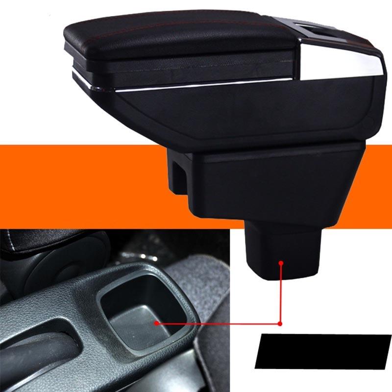 lsrtw2017 Car Armrest Central Storage Box For suzuki SX4 Crossover New SX4 Maruti Suzuki S-Cross 2013 2014 2015 2016 2017 2018 for suzuki sx4 s cross 2013 2014 automobile chrome rear door trunk lid cover trim car styling stickers accessories