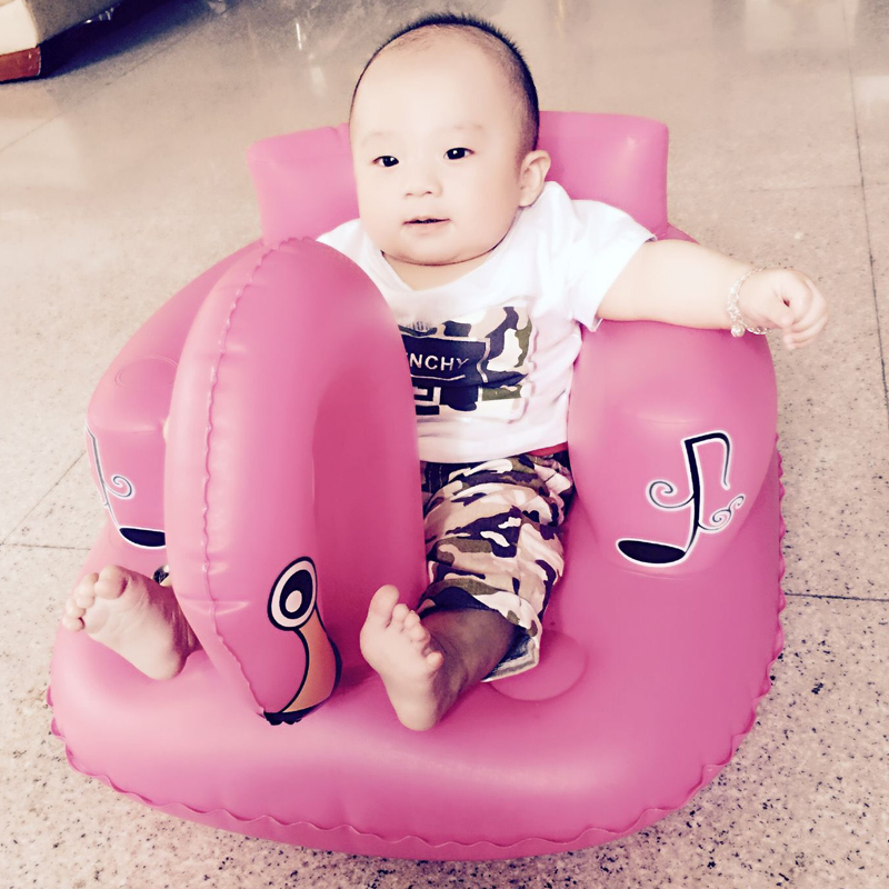 baby seat inflatable sofa stool stool BB portable small bath bath chair seat chair school pvc baby sofa inflatable kids training seat bath dining chair