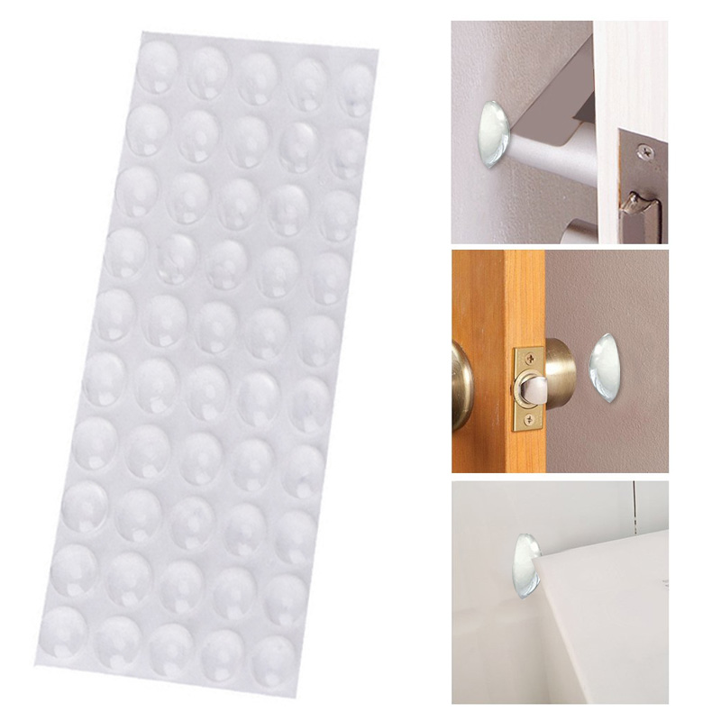 Rubber Feet Pads Hemispherical Shape 50pcs EVA Silicone Anti Slip Self Adhesive Drawer Door 6*2mm Shock Absorber Furniture Legs