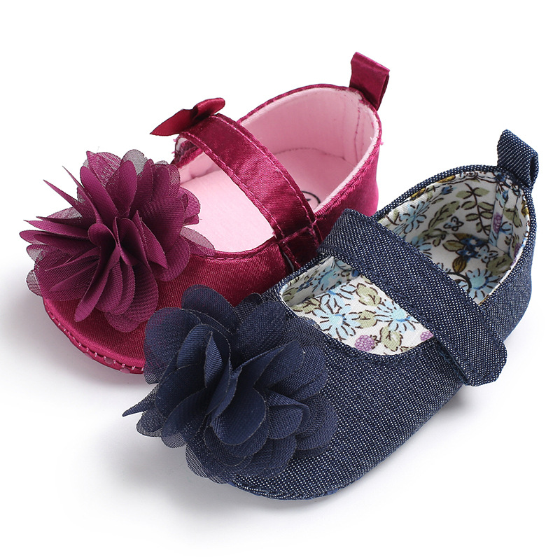 2019 Newborn Baby Girls Flower Ruffled Shoes Toddler Soft Bottom Kids