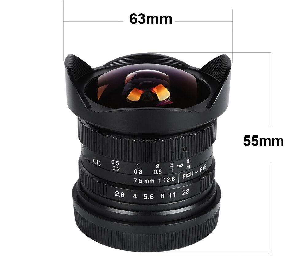 Viltrox 7.5mm F/2.8 Cámara Gran Angular De Lente de ojo de Pez de ...