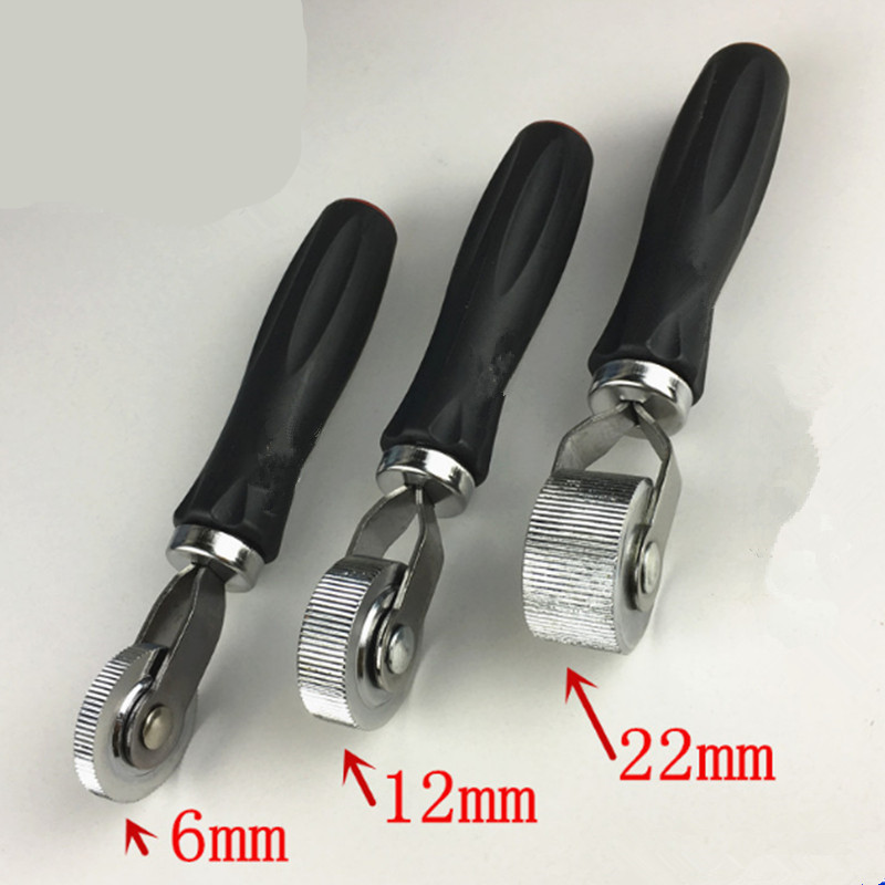 Portable Car Tire Repair Tool Metal Compaction Roller With Rubber Handle Car Motorcycle Tire Repairing Tool And Send A Wrench