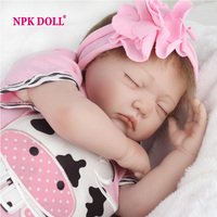22 Inch 55cm Sleeping Silicone Baby Doll Realistic Baby Toy Gift For Girls Play House Real Toys