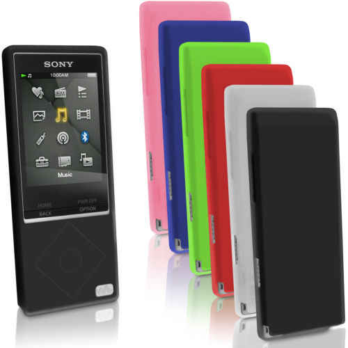 NWZ-A15 Case for Sony MP3 Walkman NWZ A25 A17 A16 NWZ-A15 NWZ-A25 NWZ-A27 Rubber Gel Silicone Skin Case Cover Soft Cases