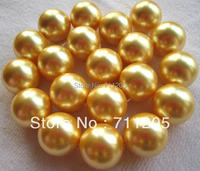 20mm High Quality Gold shell pearl Round loose beads 15,Min. Order is $10,we provide mixed wholesale for all items !