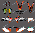 bull (0512) NEW STYLE TEAM GRAPHICS DECAL Sticker kit FOR KTM Motorcycle 125/200/250/300/450/500/525 SX 2011 2012 2013