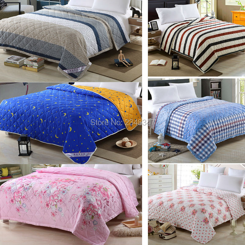 Fashion Summer Thin Child/Small/Twin/Full/Queen/King <font><b>Size</b></font> <font><b>Bed</b></font> Quilt Coverlet Stripe Flower Stars Cartoon Checked Sky Moon Floral
