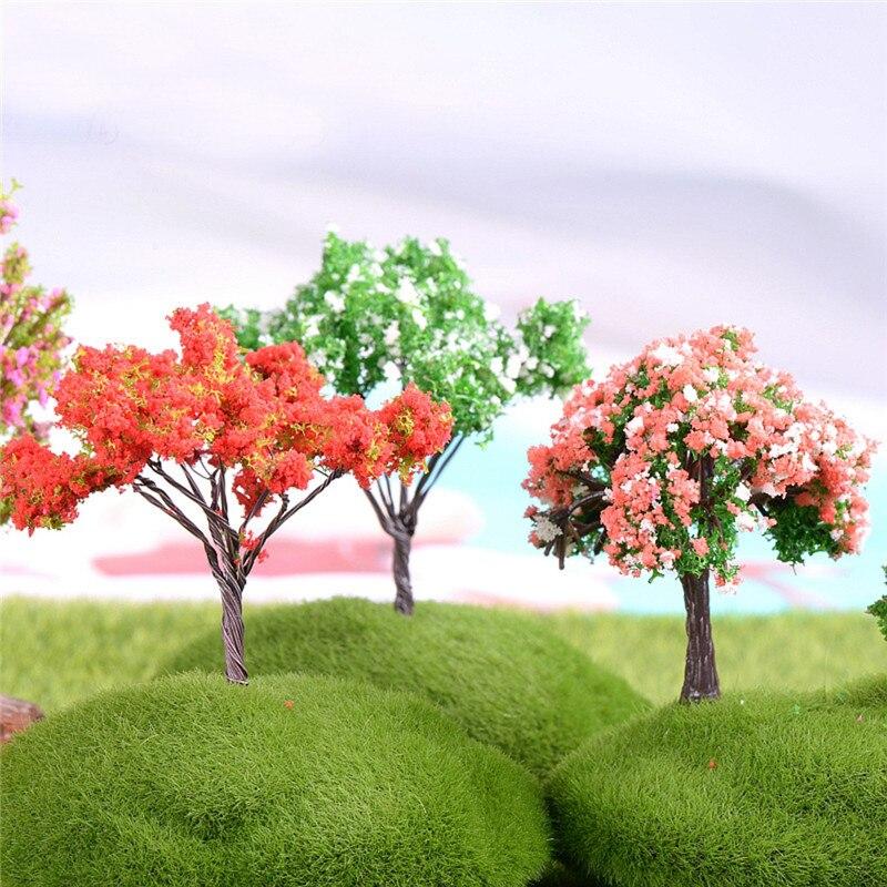 4 Pcs/Set Mini Tree Miniatures Plant Micro Landscape Resin Crafts Bonsai Figurine Terrarium Accessories Fairy Garden Supplies