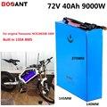 72В 40ач 8000 Вт Снежный жир Электрический велосипед батарея для Panasonic NCR18650B 3400 мАч ячейки 72В 3000 Вт 5000 Вт Электрический велосипед аккумулятор