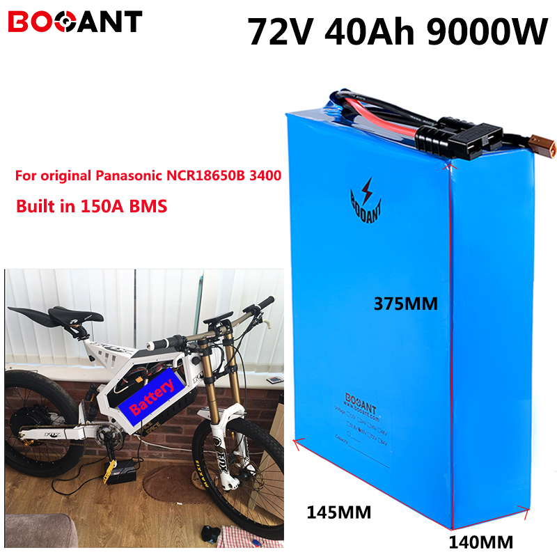 72V 40Ah 8000W Snow Fat Electric Bike Battery For Panasonic NCR18650B 3400mAh Cell 72V 3000W 5000W Electric Bike Battery Pack