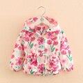 Bebê para imprimir a nova primavera 2017 da Coréia do sul estilo meninas longa-wt-7488 das crianças jaqueta de mangas compridas desgaste das crianças flores