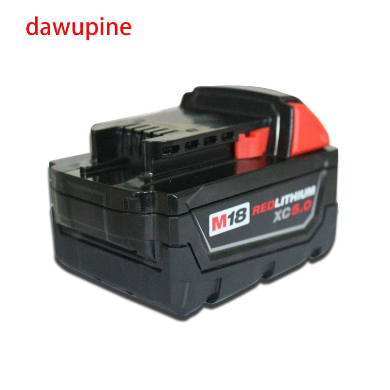 dawupine M18B Shell Li-ion Battery Plastic Case Charging Protection Circuit Board For Milwaukee 18V M18 3Ah 4Ah 5Ah PCB Board 10 pcs bl1830 li ion battery pcb charging protection circuit board for makita 18v 1 5ah 3ah 4 5ah 6ah bl1815 bl1845 bl1860