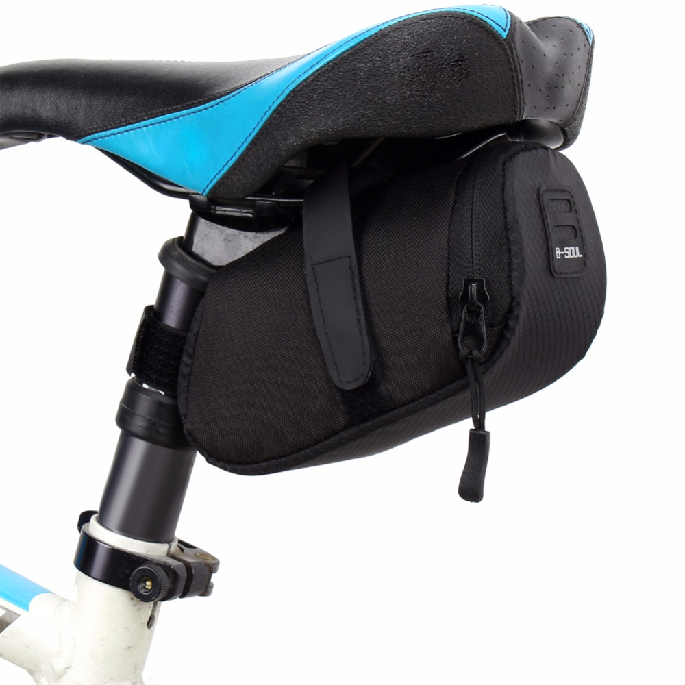 Bicycle Waterproof Storage Saddle Bag Bike Seat Cycling Rear Pouch Outdoor Black