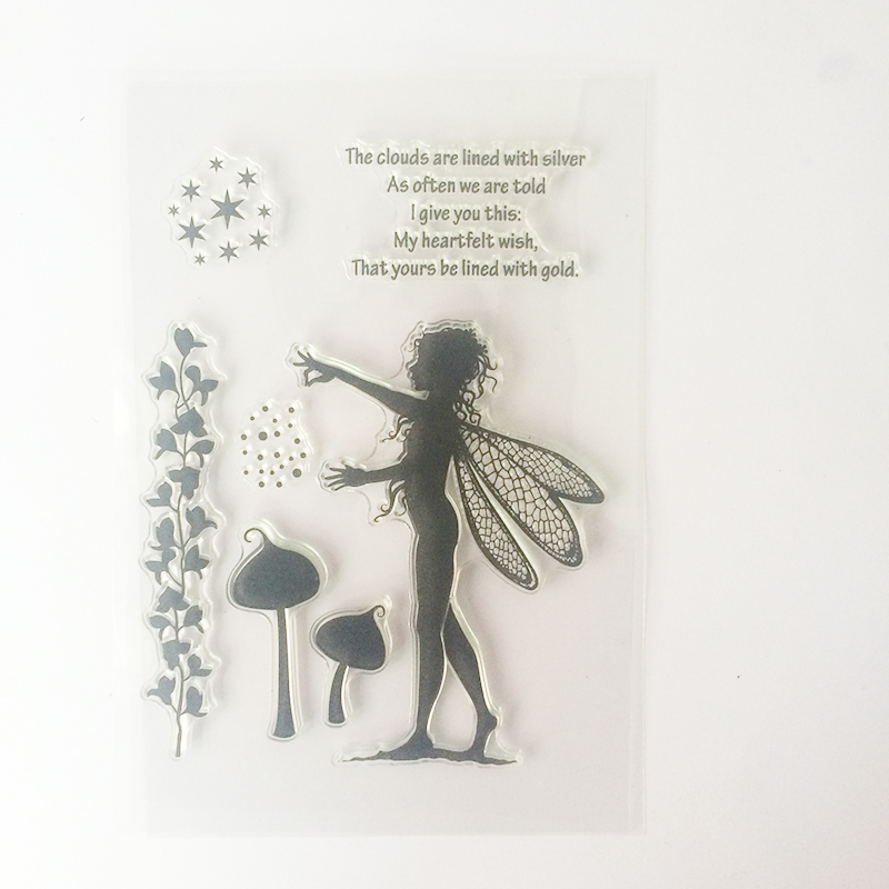 GTCT-0049 2017 New Angels Fairy Transparent Clear Silicone Stamps/Seal for DIY scrapbooking/photo album Decor Back to School lovely animals and ballon design transparent clear silicone stamp for diy scrapbooking photo album clear stamp cl 278
