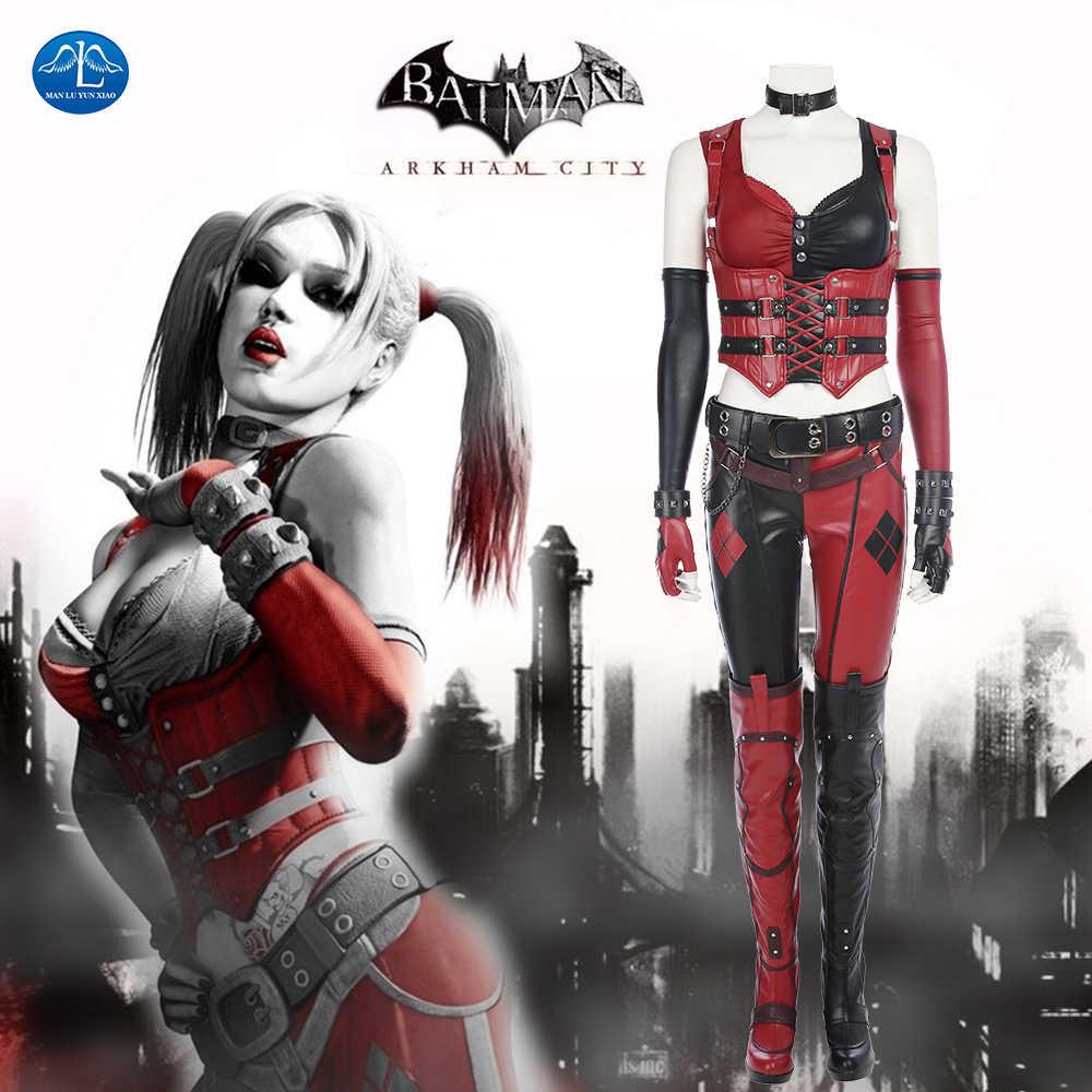 Deluxe Joker Harley Quinn Batman Halloween Adult Mens Ladies Fancy Dress Costume